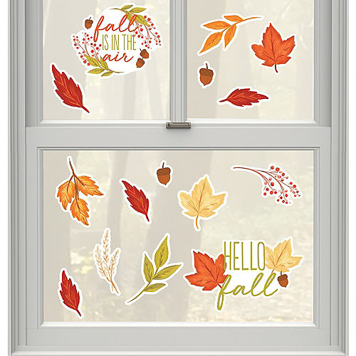 Fall Foliage Cling Decals 6ct Image #1
