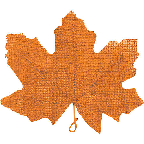 Painted Fall Burlap Leaves 5ct Image #5