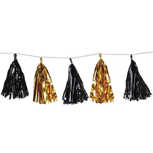 Black & Gold Tassel Garland Image #1
