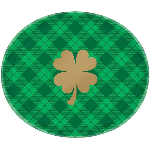 St. Patrick's Day Plaid Tableware Kit for 36 Guests Image #2