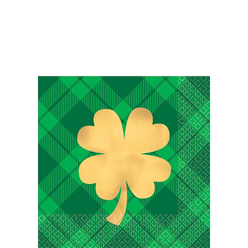 St. Patrick's Day Plaid Tableware Kit for 36 Guests Image #3