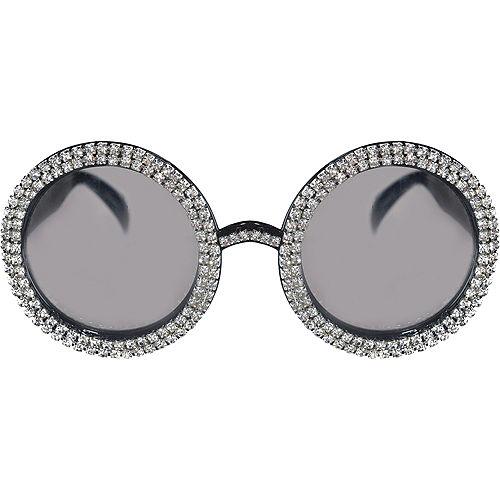 70s Oversized Crystal Sunglasses Image #1