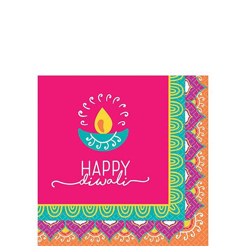 Diwali Beverage Napkins 16ct Image #1