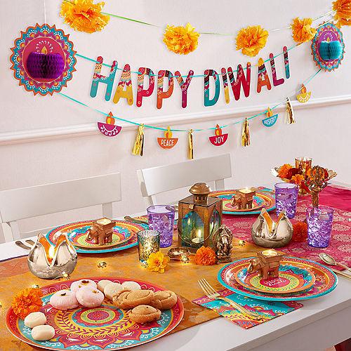Diwali Dessert Plates 8ct Image #2