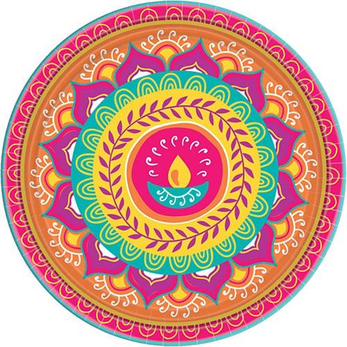 Diwali Dinner Plates 8ct Image #1