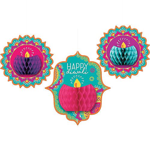 Diwali Honeycomb Decorations 3ct Image #1