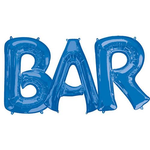 Giant Royal Blue Bar Balloon Kit Image #1