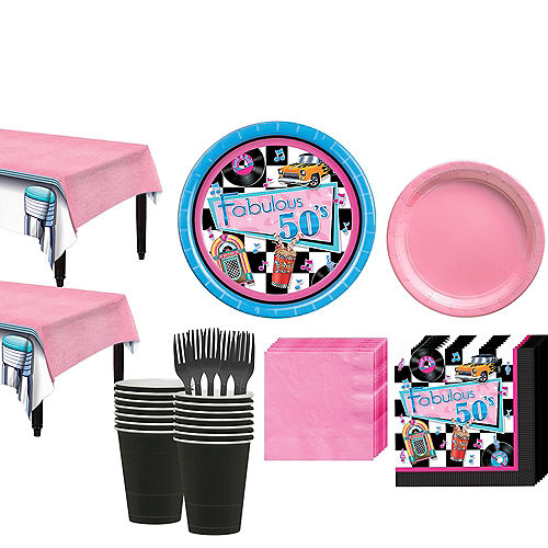 Rock 'n' Roll 50s Tableware Kit for 16 Guest Image #1