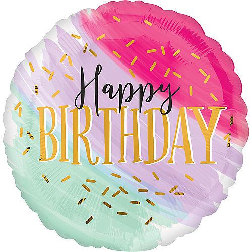 Giant Watercolor Pastel Birthday Balloon Image #1