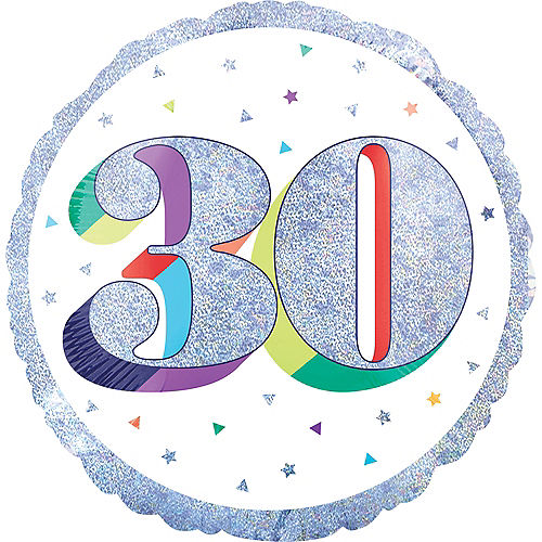 Prismatic Rainbow 30th Birthday Balloon Image #1