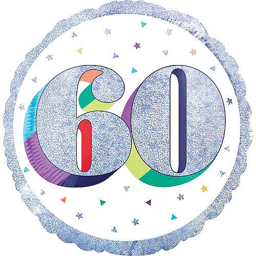 Prismatic Rainbow 60th Birthday Balloon Image #1