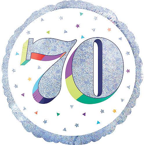 Prismatic Rainbow 70th Birthday Balloon Image #1