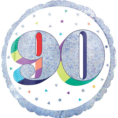 Prismatic Rainbow 90th Birthday Balloon Image #1
