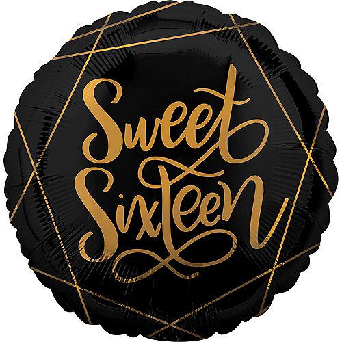 Art Deco Sweet Sixteen Balloon Image #1