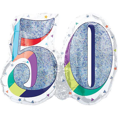 Prismatic Rainbow 50 Balloon Image #1