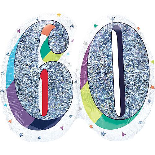 Prismatic Rainbow 60 Balloon Image #1