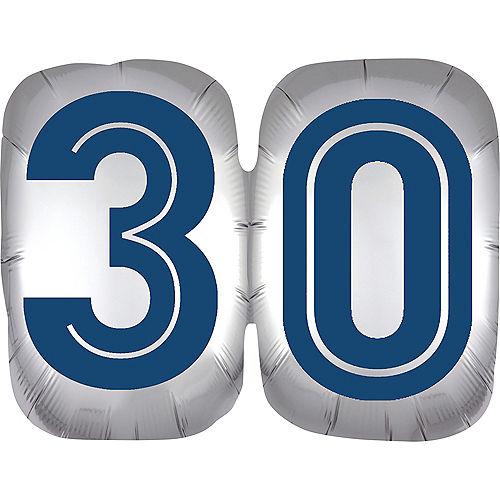 Vintage Happy Birthday 30 Balloon Image #1
