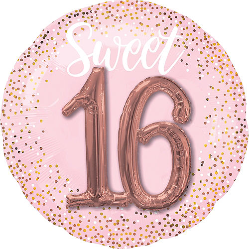 Giant Pink Sweet Sixteen 3D Balloon Image #1