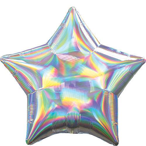 Iridescent Silver Star Balloon Image #1