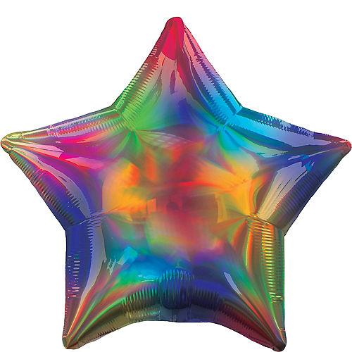 Iridescent Rainbow Star Balloon Image #1
