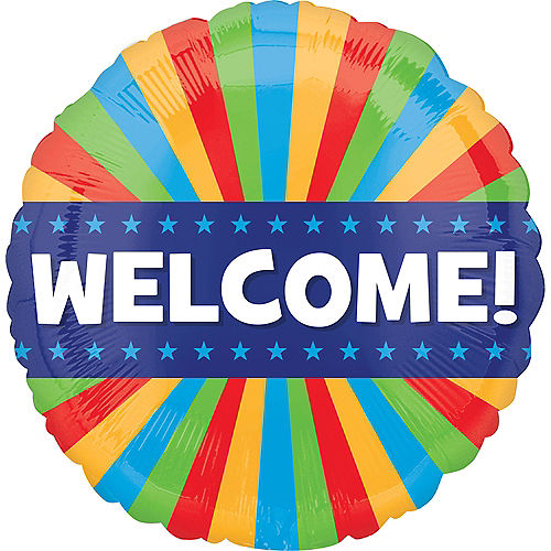 Colorful Welcome Balloon Image #1