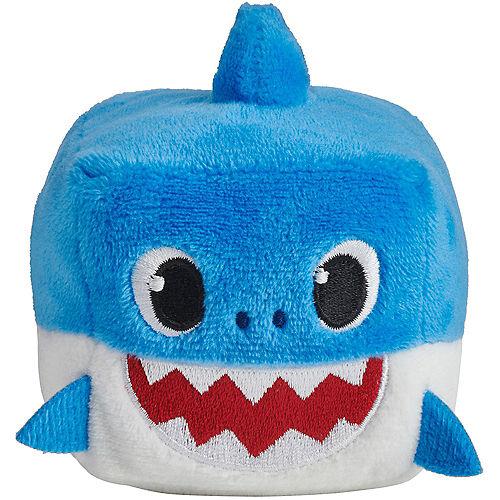 Singing Baby Shark Cube Plush 3in x 3 1/2in Image #2