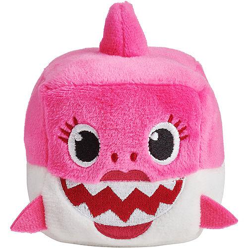 Singing Baby Shark Cube Plush 3in x 3 1/2in Image #3