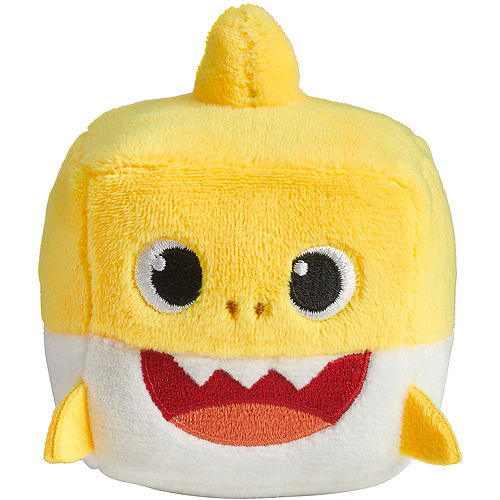 Singing Baby Shark Cube Plush 3in x 3 1/2in Image #4