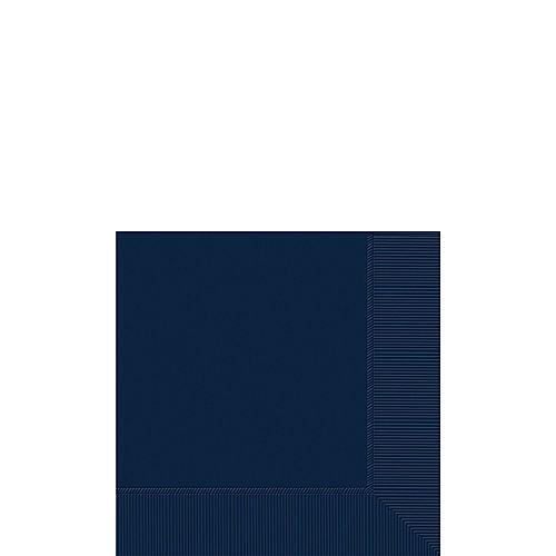 True Navy Blue Paper Beverage Napkins, 5in, 40ct Image #1
