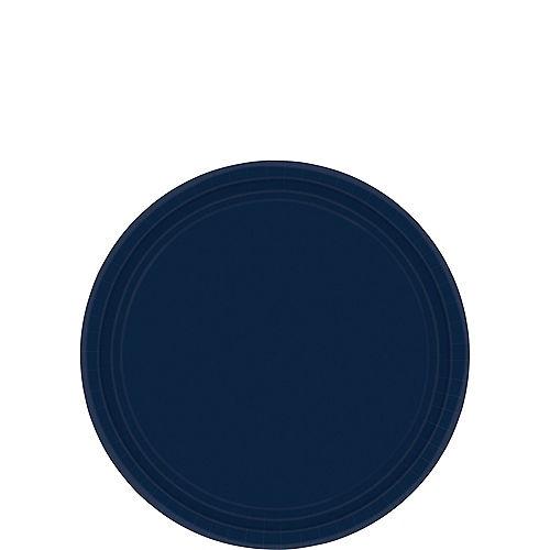 True Navy Blue Paper Dessert Plates, 6.75in, 20ct Image #1