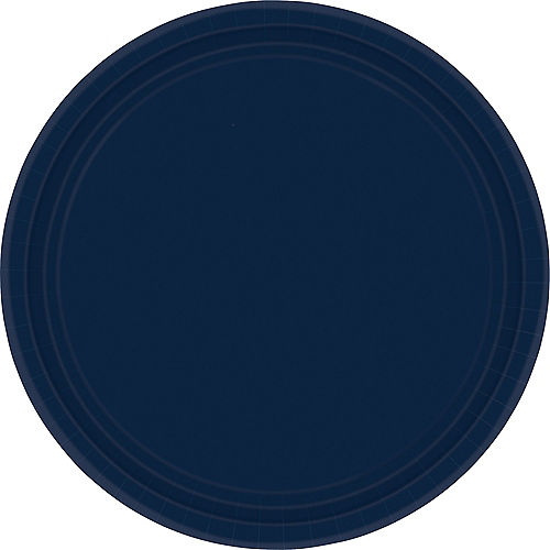 True Navy Blue Paper Dinner Plates, 10in, 20ct Image #1