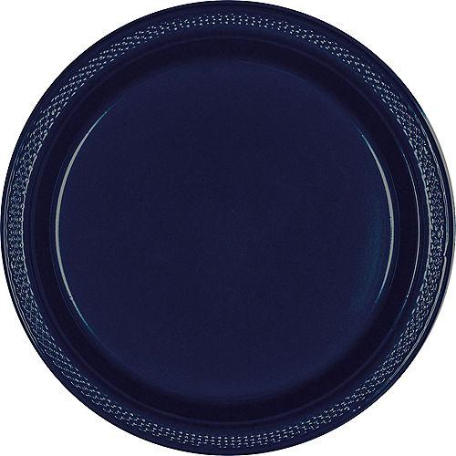 True Navy Blue Plastic Dinner Plates, 10.25in, 50ct Image #1