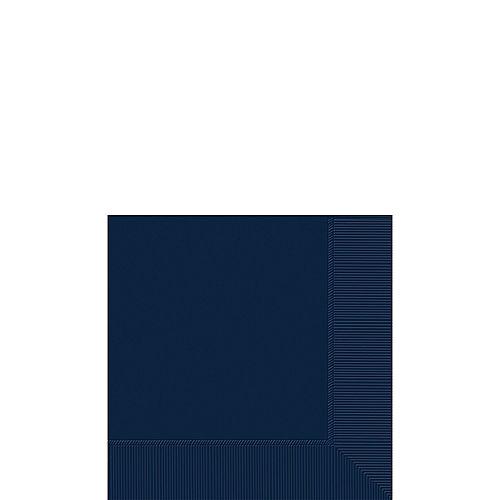 True Navy Blue Paper Beverage Napkins, 5in, 100ct Image #1