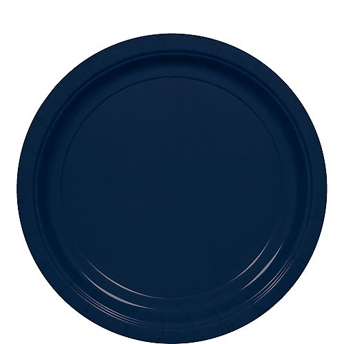 True Navy Blue Paper Lunch Plates, 8.5in, 50ct Image #1