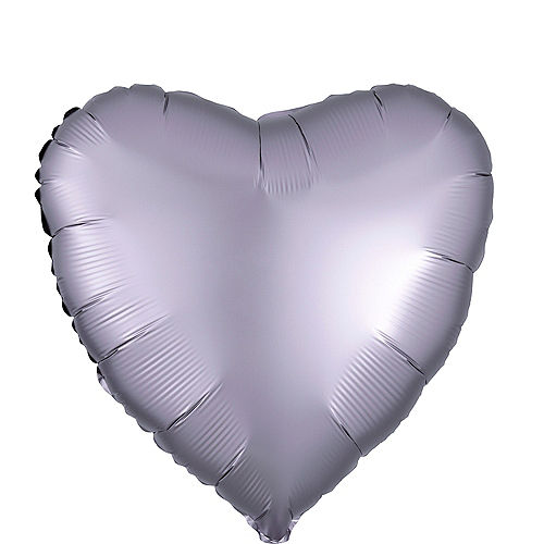17in Stone Satin Heart Balloon Image #1