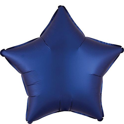 Navy Blue Satin Star Balloon Image #1