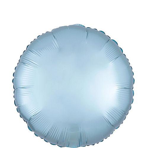 Pastel Blue Satin Round Balloon Image #1