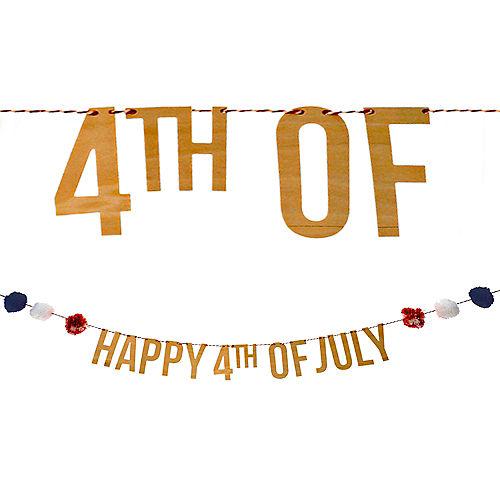 4th of July Letter Banner Image #1