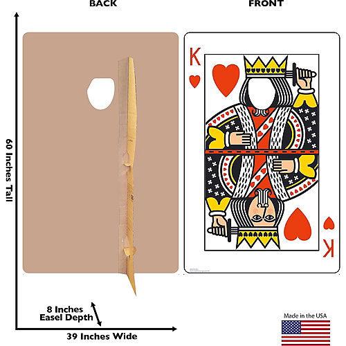 King of Hearts Playing Card Photo Standee Image #2