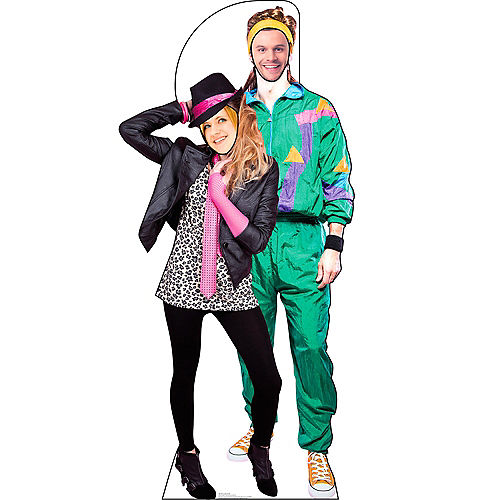Totally 80s Couple Life-Size Photo Cardboard Cutout Image #3