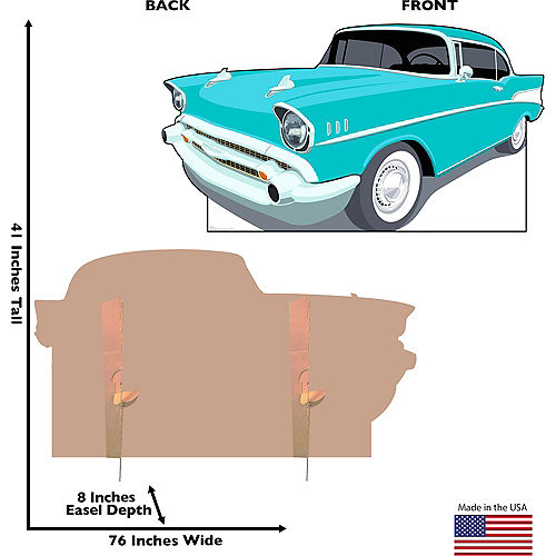 50s Classic Car Standee Image #2