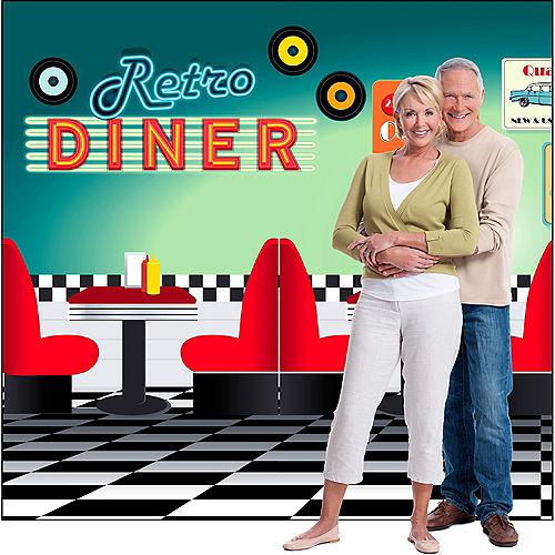 50s Retro Diner Backdrop Standee 2pc Image #3