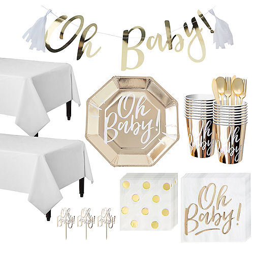 Oh Baby Baby Shower Tableware Kit for 16 Guests Image #1
