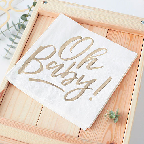 Oh Baby Baby Shower Tableware Kit for 16 Guests Image #4