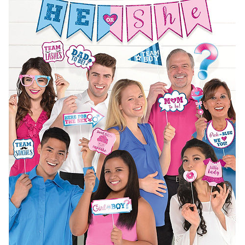 Girl or Boy Gender Reveal Party Photo Booth Kit Image #7