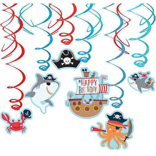 Super Pirate Shark 1st Birthday Party Kit for 36 Guests Image #8