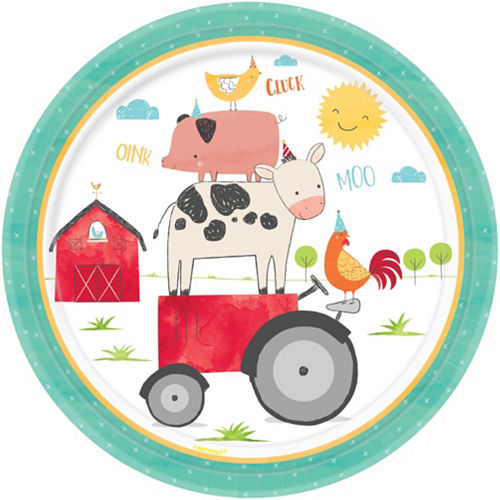 Friendly Farm 1st Birthday Tableware Kit for 18 Guests Image #3