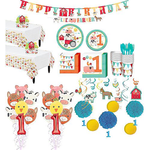 Super Friendly Farm 1st Birthday Party Kit for 36 Guests Image #1