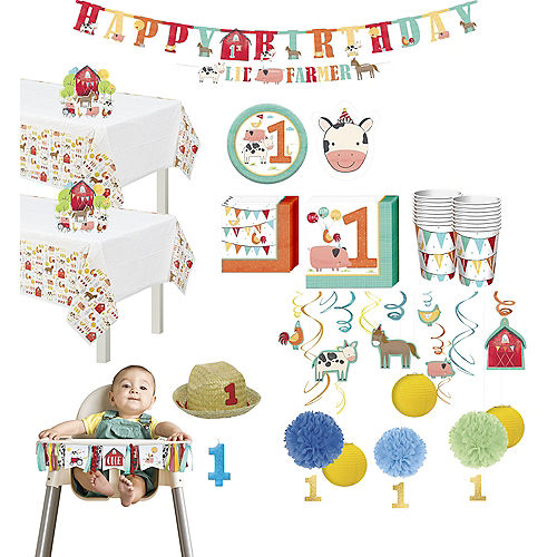 Ultimate Friendly Farm 1st Birthday Party Kit for 36 Guests Image #1