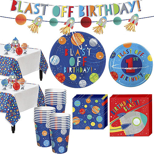 Blast Off 1st Birthday Party Kit for 32 Guests Image #1
